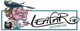 Logotipo de CARICATURAS LEAFAR