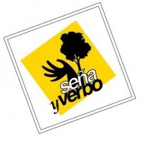 Logotipo de Seña y Verbo: teatro de sordos