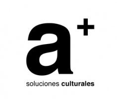 Logotipo de a+, soluciones culturales