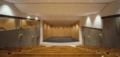 Auditorium Kultur Leioa con concha acústica.