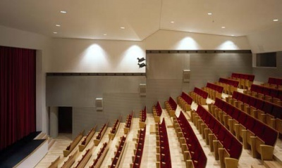 Auditorium Kultur Leioa. Vista lateral del patio de butacas.