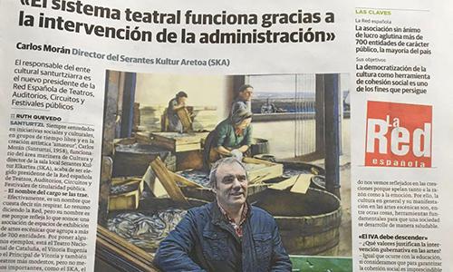 El presidente de La Red defiende el papel de la Administración como elemento fundamental para el sostenimiento del sistema teatral en España