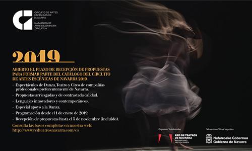Abierto, hasta el 5 de noviembre, el plazo de presentación de propuestas al circuito de artes escénicas de Navarra 2019