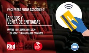 """Encuentro entre asociad@s: """"Aforos y venta de entradas"""", el martes 15 de septiembre"""