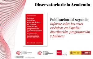 La Academia de las Artes Escénicas de España cree necesario un pacto de Estado para hacer frente a la crisis de la pandemia