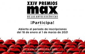 Se abre el periodo de inscripciones de los 24º Premios Max de las Artes Escénicas