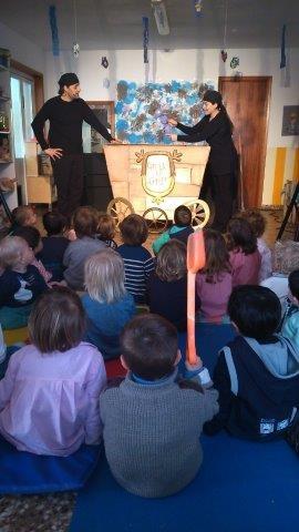 El Festival Barruguet con los más pequeños: Festuc Teatre en una escuela infantil