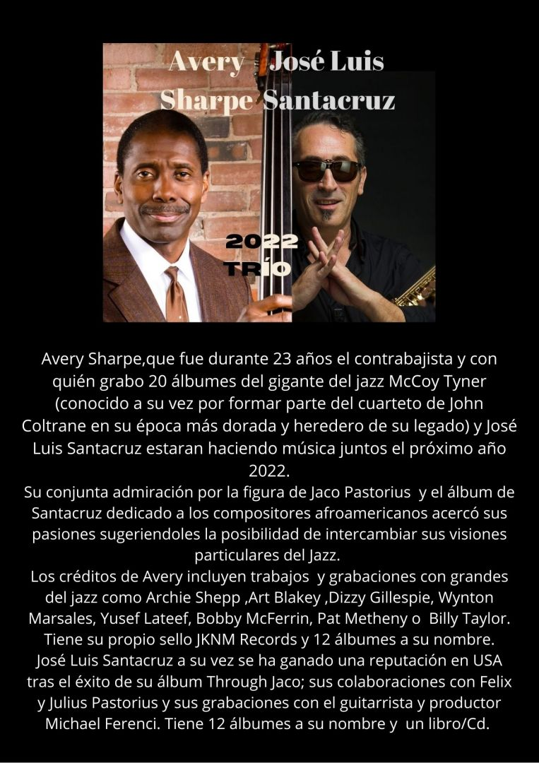 Avery Sharpe & José Luis Santacruz Trío.