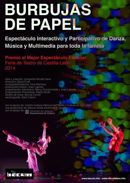 BURBUJAS DE PAPEL - espectáculo Interactivo y Participativo de Danza, Música y Multimedia